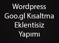 WordPress Otomatik Kısa Adresi Goo.gl Yapmak!