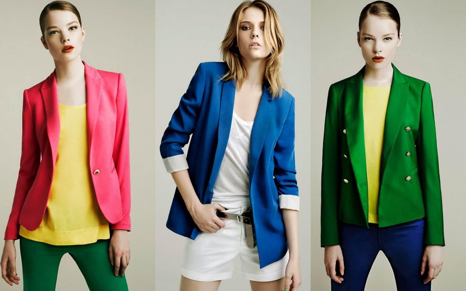 Renkli Kadın Ceket Modelleri