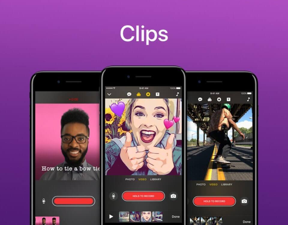 Apple'ın Clips uygulaması, yeni güncellemeyle beraber gerçek bir video uygulaması olma yolunda aşama kaydediyor