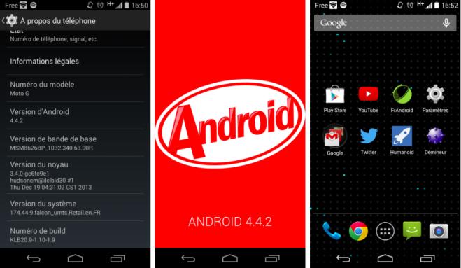 Motorola Moto G Android 4.4 Güncellemesi