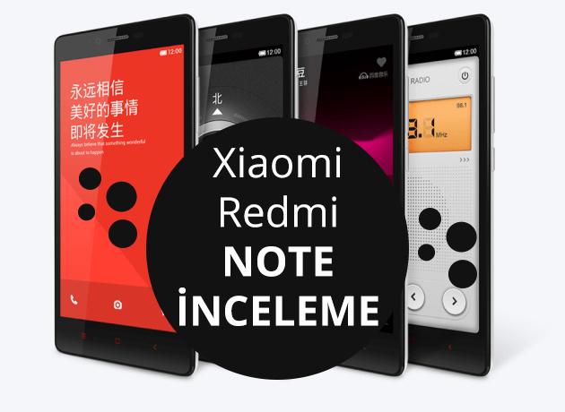 Xiaomi Redmi Note Akıllı Telefon İnceleme